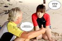 Learning to surf Phuket Thailand