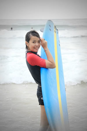 Surfing lessons at Phuket Surf School