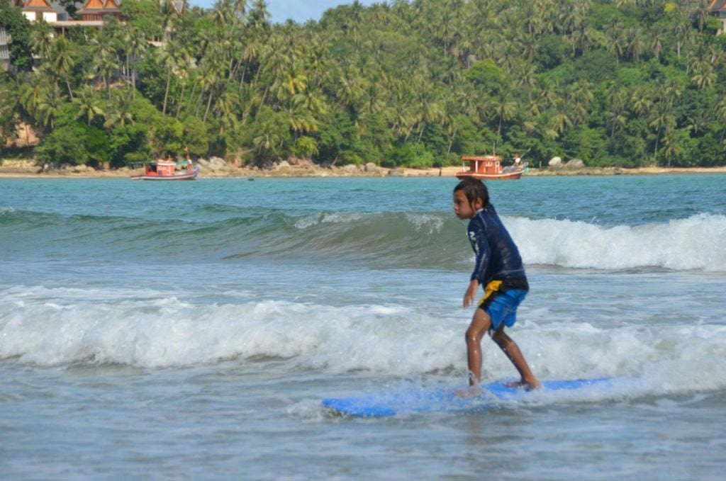 Learning to Surf at  Bang Tao Beach